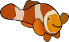 free vector Clown Fish clip art