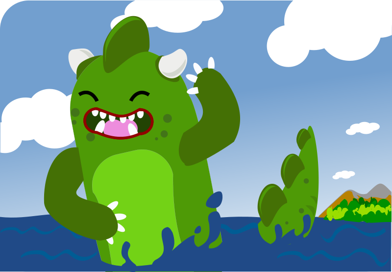 free vector Clozilla emerging from sea