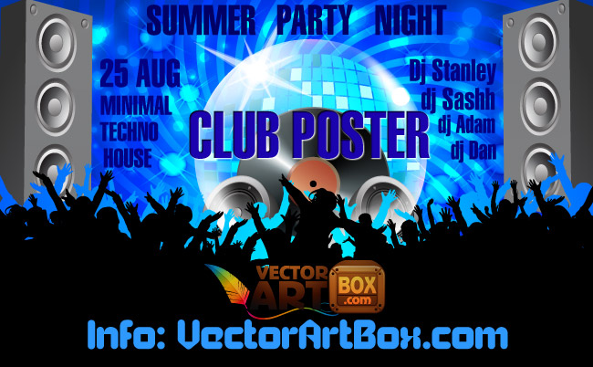 free vector Club Poster