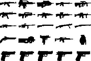 free vector Clue Guns Pack clip art