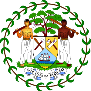 free vector Coat Of Arms Of Belize clip art