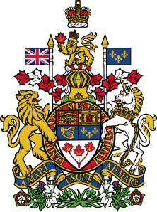 free vector Coat Of Arms Of Canada clip art