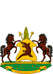 free vector Coat Of Arms Of Lesotho clip art