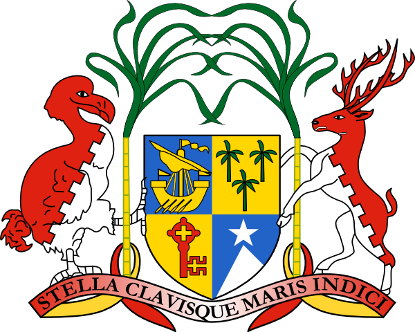 free vector Coat Of Arms Of Mauritius clip art