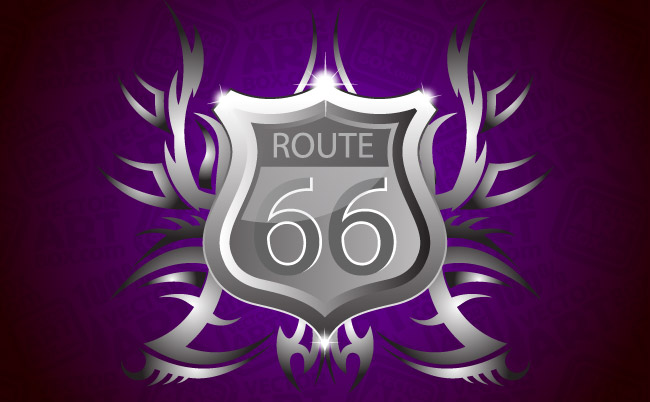 free vector Coat of Arms Route 66