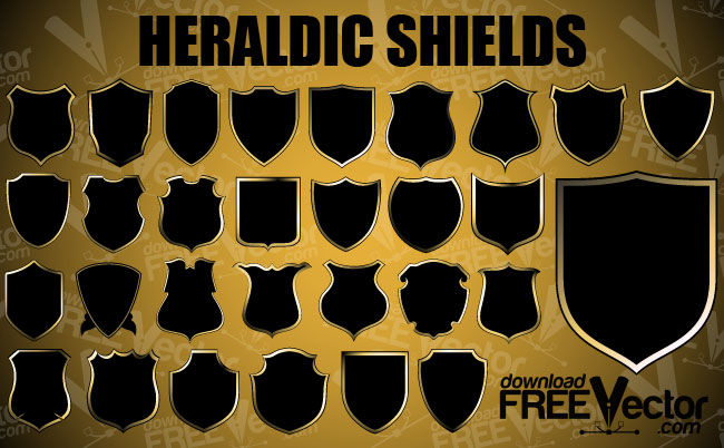 free vector Coat of Arms Shield Vector Pack