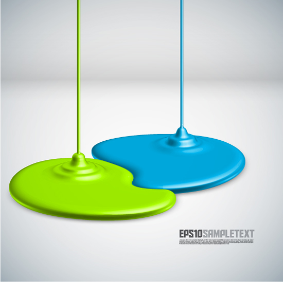free vector Coating dripping shape design background vector 1