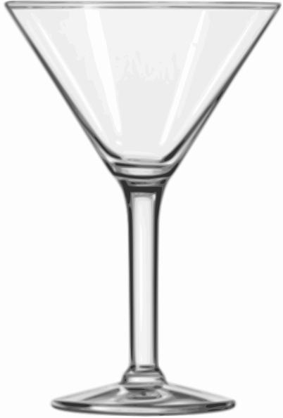 Cocktail Glass Martini Clip Art Free Vector 4vector
