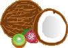 free vector Coconuts Kiwi Strawberry clip art