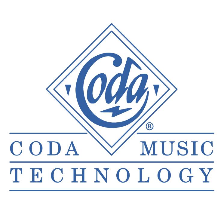 free vector Coda music technology 0