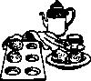 Coffee And Rolls Breakfast clip art (112692) Free SVG ...