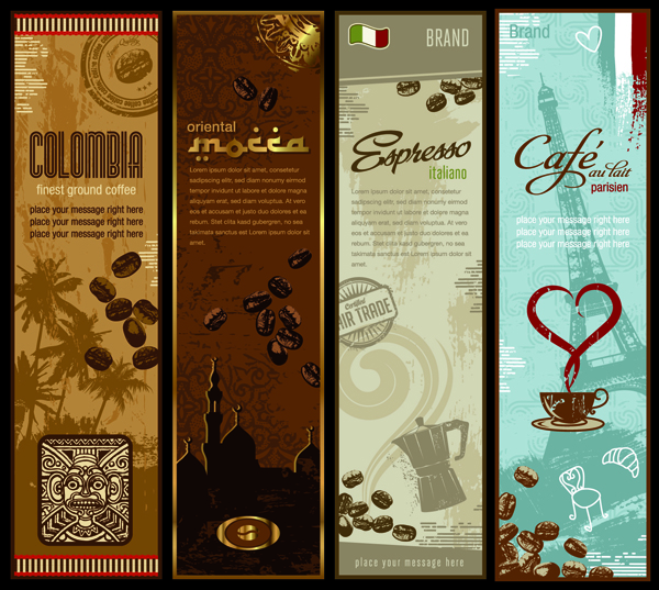 free vector Coffee and totem vector