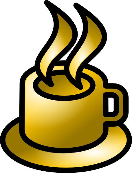 free vector Coffee Cup Gold Theme clip art