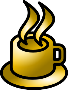 Coffee Cup Gold Theme clip art (117594) Free SVG Download ...