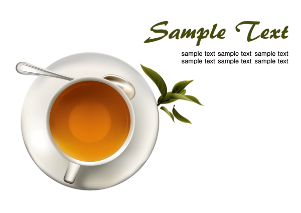 free vector Coffee tea lemon tea vector