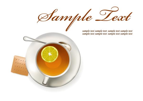 free vector Coffee tea lemon tea vector