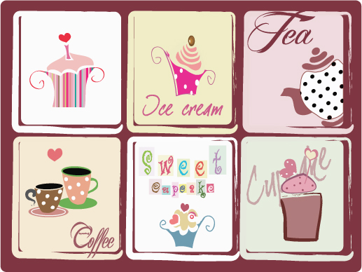 free vector Coffee theme vector