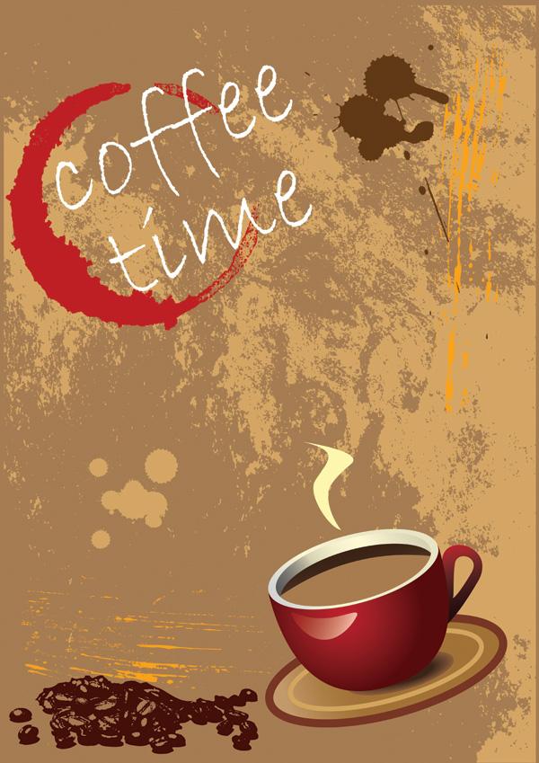 free vector Coffee theme vector