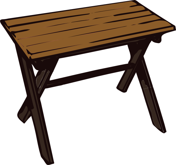 free vector Collapsible Wooden Table clip art