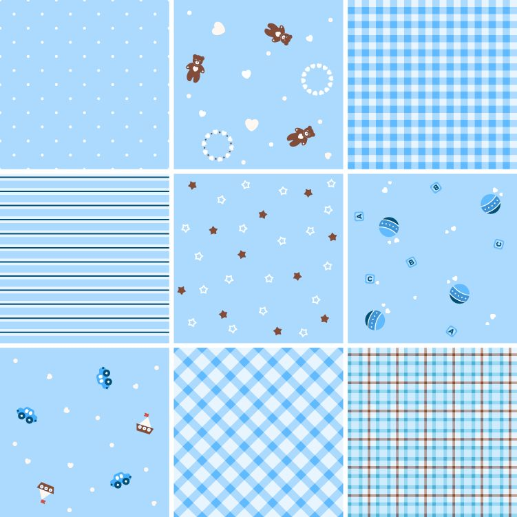 free vector Collection of Seamless Plaid Patterns Vector Background