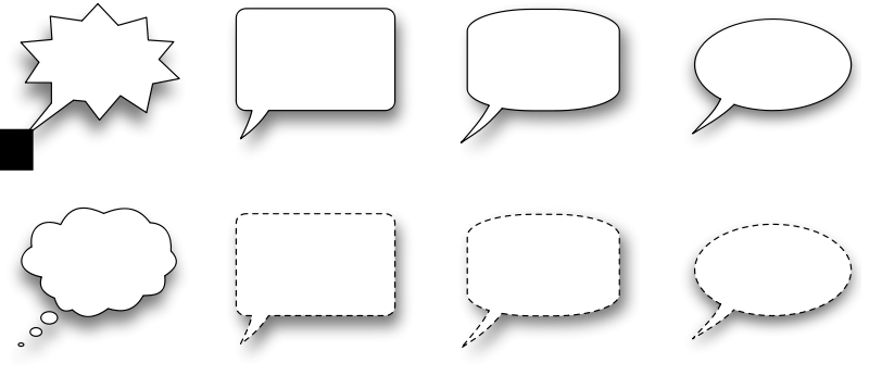 free vector Collection of speech bubble