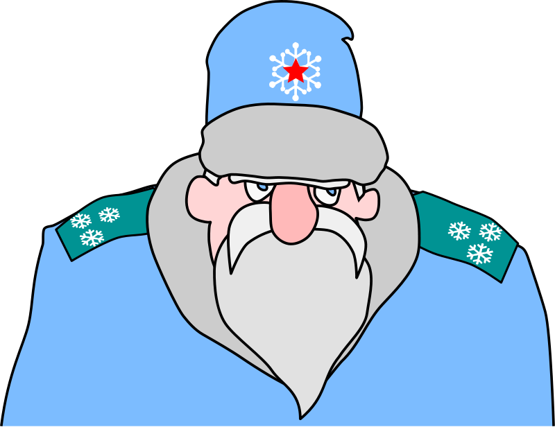free vector Colonel Frost - russian military Santa Claus
