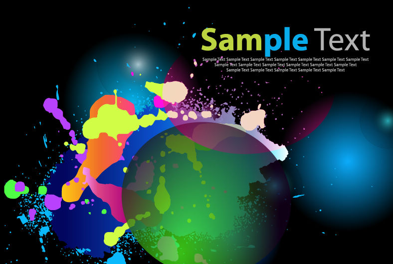 free vector Color Abstract Background Art