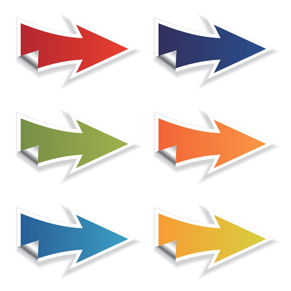 free vector Color arrow icon vector
