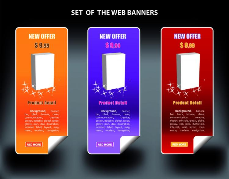 free vector Color banners banner03 vector