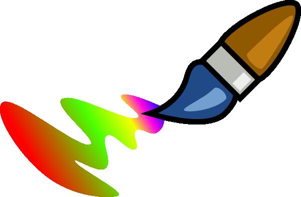 free vector Color Brush Cartoon clip art