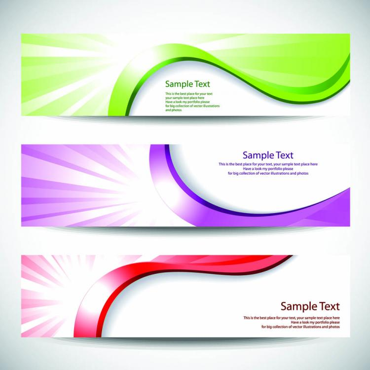 free vector Color dynamic lines of the banner vector