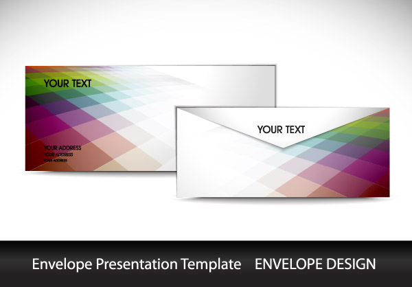 free vector Color envelope template vector