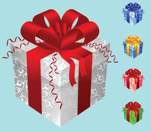 free vector Color gift packaging vector