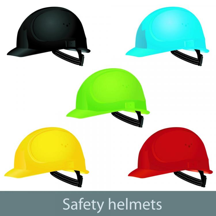 free vector Color helmet 01 vector