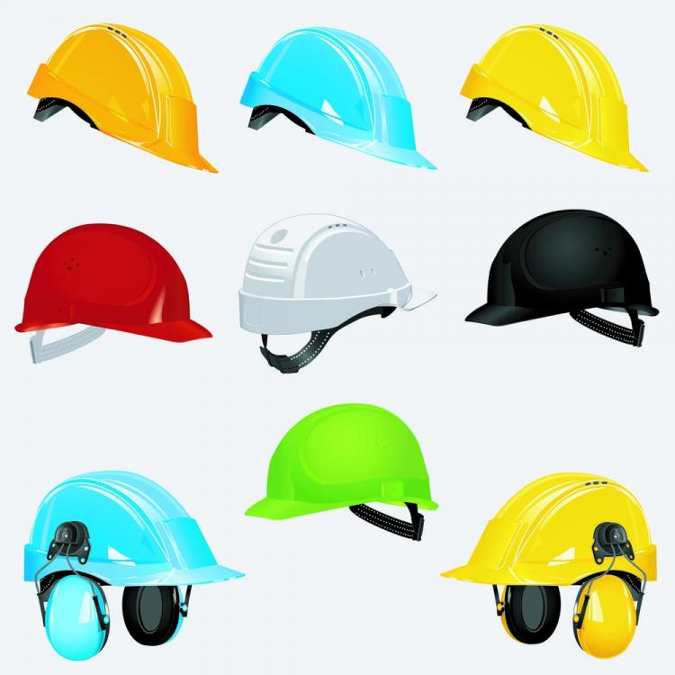 free vector Color helmet 02 vector
