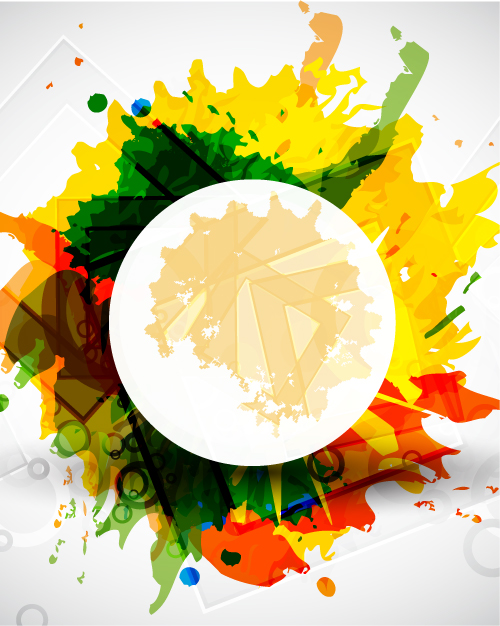 free vector Color ink background 03 vector