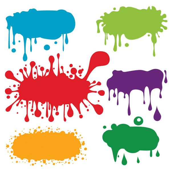free vector Color ink droplets graffiti vector
