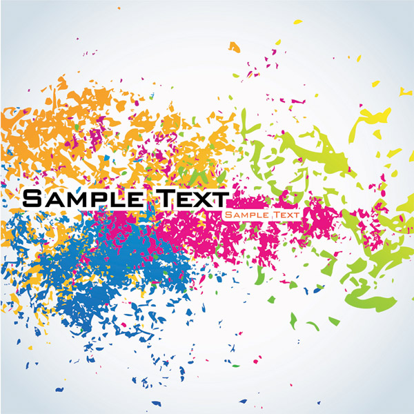 Color Splatter Vector Color Ink Vector is Free