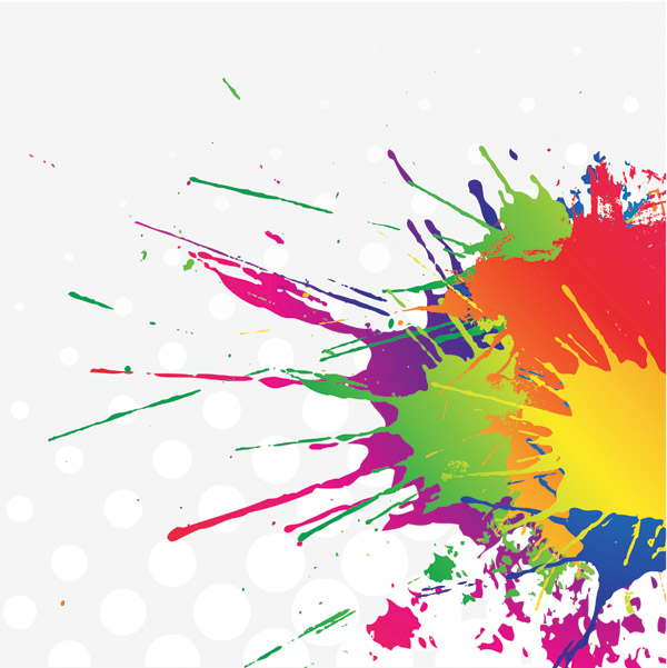Color Splatter Vector Color Ink Vector is Free