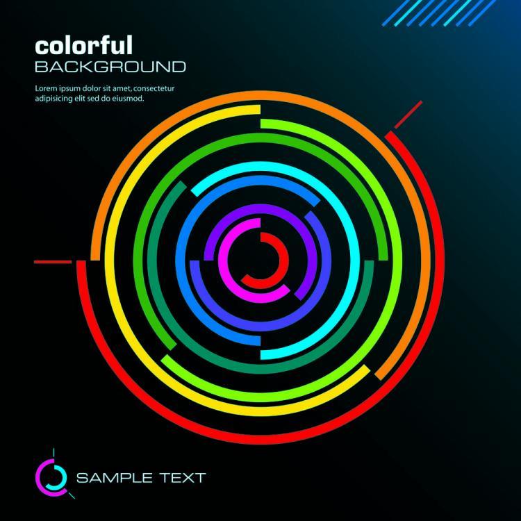 free vector Color line 02 vector