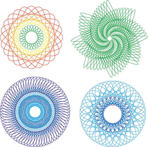 Color line pattern vec...