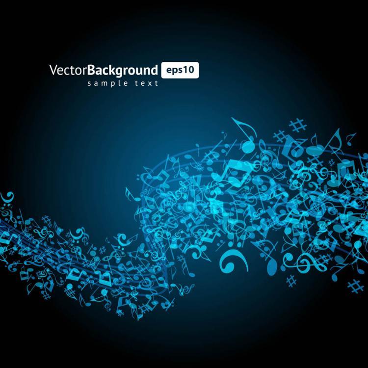 free vector Color music key symbols 01 vector