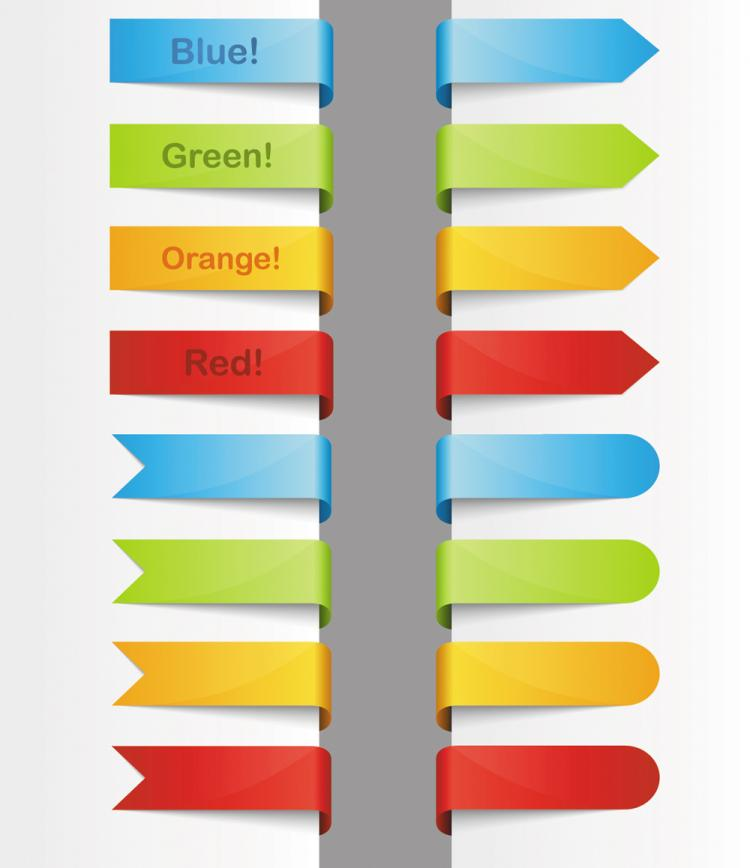 free vector Color of ribbon 02 vector