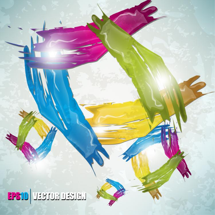 free vector Color paint splashes background 02 vector
