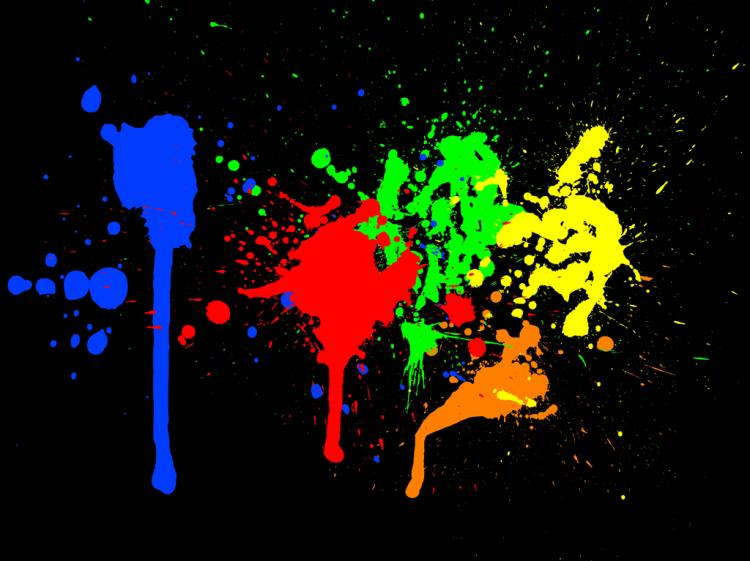 free vector Color Paint Splashes