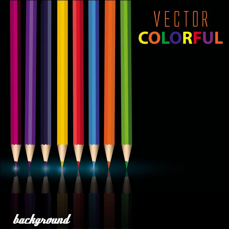 free vector Color pencil 01 vector