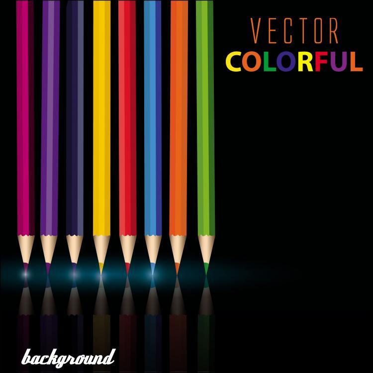 free vector Color pencil 01 vector