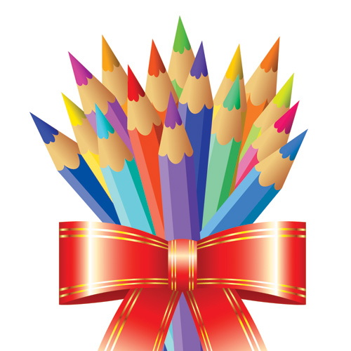 free vector Color pencil theme vector