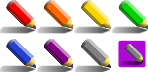 free vector Color Pencils clip art