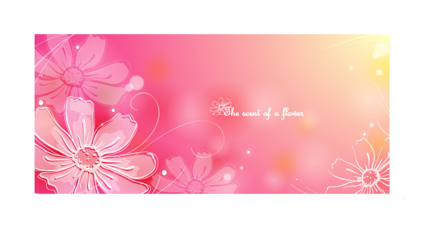 free vector Color soft floral background vector 1 8p